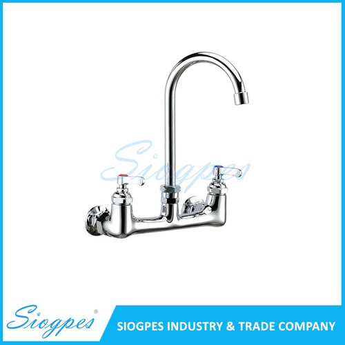 K32103 Wall Mounted Mixing Kitchen Tap with Gooseneck Spout