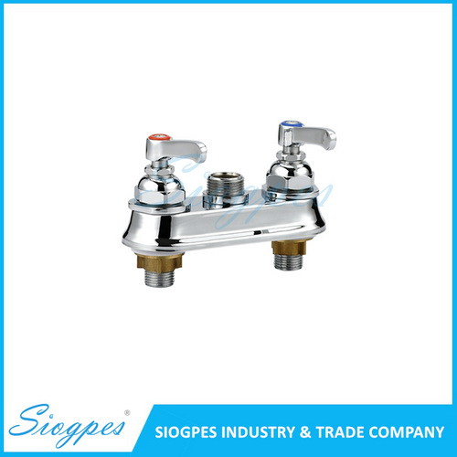 K32903 Double Holes 4 Inches Workboard Mixing Kitchen Tap with Swanneck Nozzle