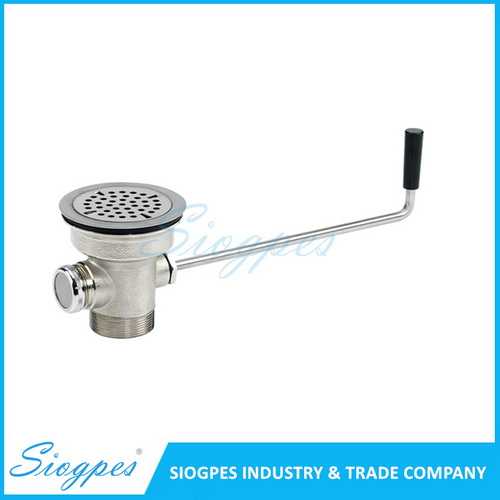 D3300 Twist Lever Waste Drainer Commercial Twist Handle Floor Waste Drain